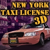 New York Taxi License 3D Icon